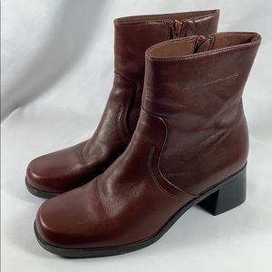 Naturalizer Brown Leather Booties